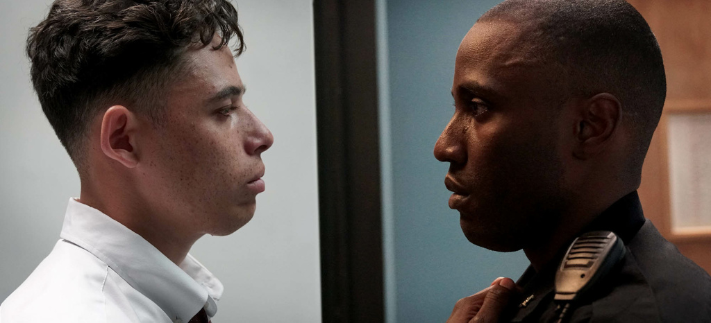 Anthony Ramos (L) and John David Washington (R) in the new film