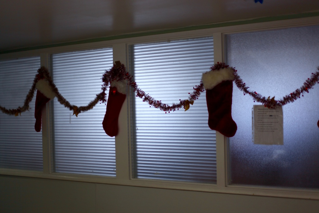 Stockings hung at Good Shepherd Center
