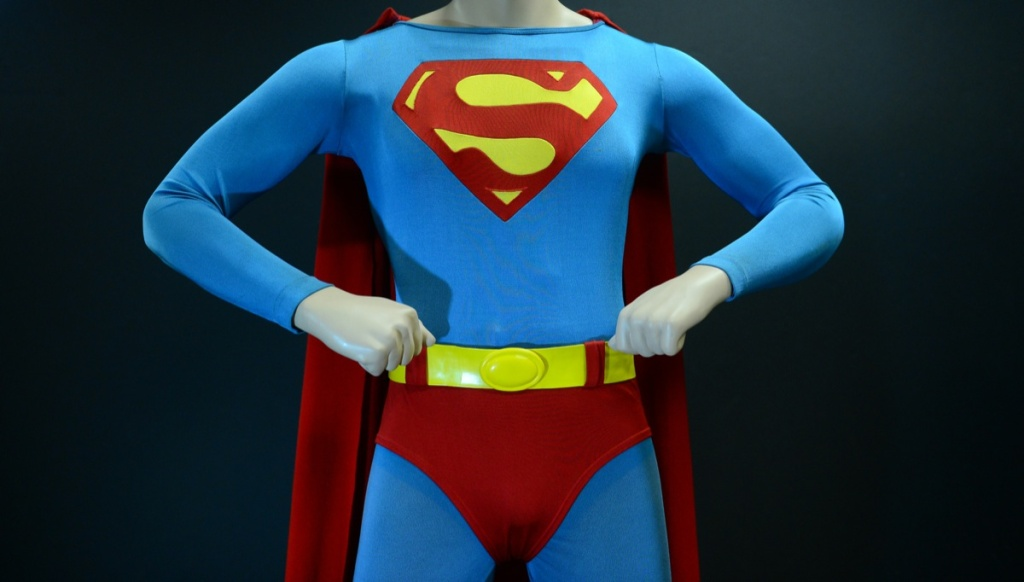 The Superman costume that was worn by Christopher Reeve in