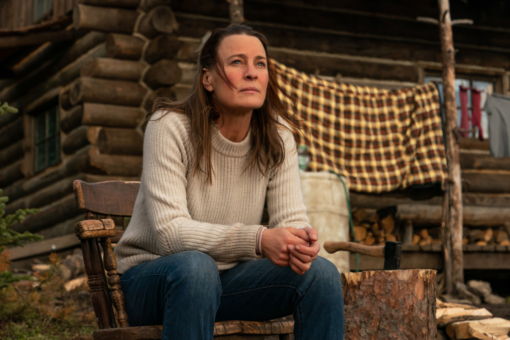 Robin Wright stars as Edee in her feature directorial debut <em>Land. </em>Wright says her character has made a decision: