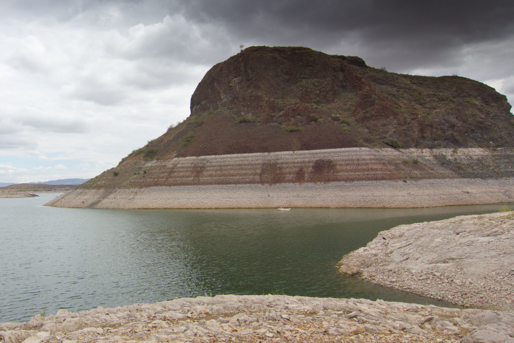 Elephant Butte Reservoir in New Mexico saw water levels rise eight feet after recent storms.