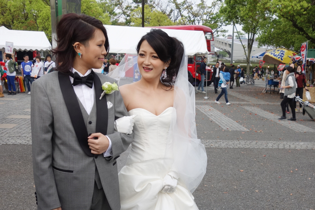 Yae and Ren were married during Tokyo's Rainbow Pride Weekend in April. One Tokyo ward, or neighborhood, has recognized same-sex marriages, becoming the first place in Japan — or anywhere in East Asia — to do so.