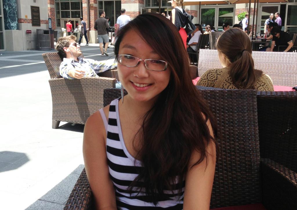 Recent graduate Jenny Chen at USC.