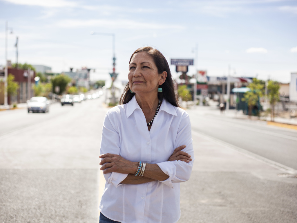 Rep. Deb Haaland would be the country's first Native American Cabinet secretary. She opposed many Trump environmental rollbacks on public lands and considers climate change