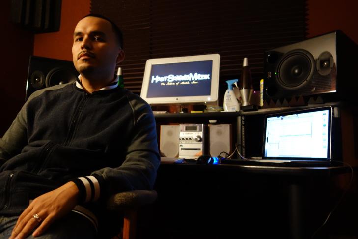 Alex Ortiz bases his music production business, Heat Squad Muzik, in San Bernardino, where he recruits local talent in hopes of scoring a hit record.