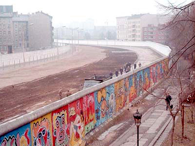 The Berlin Wall divided the city for nearly three decades.  This picture was taken in 1986 in Berlin's Kreuzberg neighborhood.