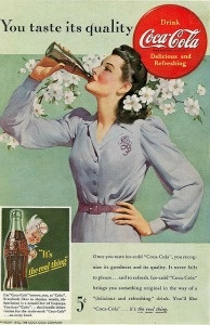 A Coca-Cola advertisement from 1942. Could the soft drink giant come to the aid of California's environment?