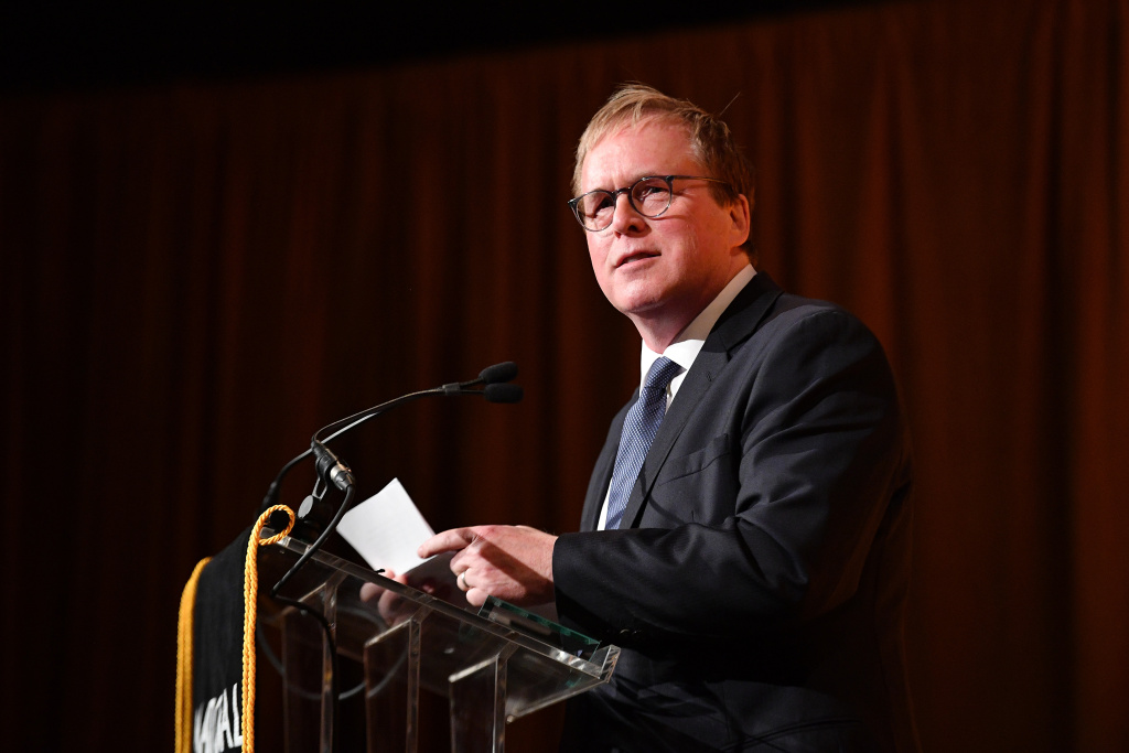 Brad Bird accepts the Best Animated Feature Award for Incredibles 2 during The National Board of Review Annual Awards Gala at Cipriani 42nd Street on January 8, 2019 in New York City.