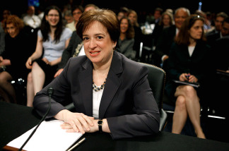 U.S. Supreme Court Justice nominee Elena Kagan awaits the resumption of questioning during the second day of her confirmation hearings on Capitol Hill before the Senate Judiciary Committee June 29, 2010 in Washington, DC.