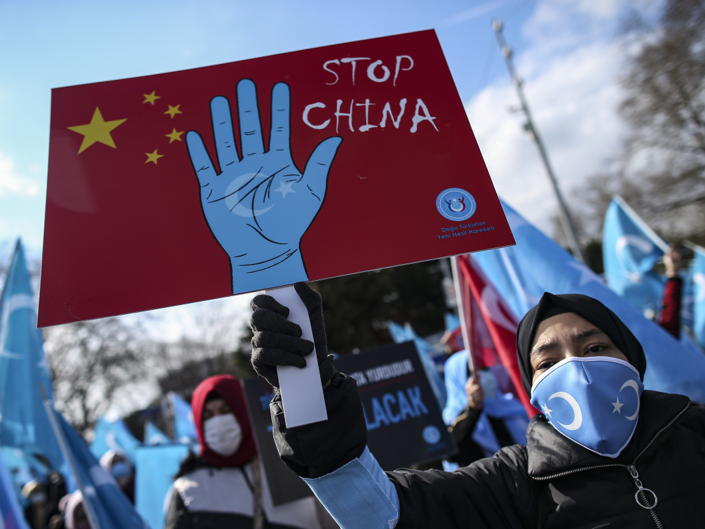 Uyghurs living in Turkey protested China in March for the country's human rights abuses in its western Xinjiang province. A new Amnesty International report substantiates these abuses, calling them