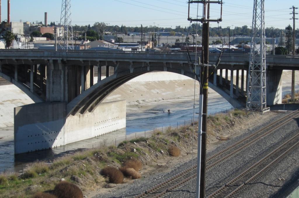 The Spring Street Bridge in Los Angeles