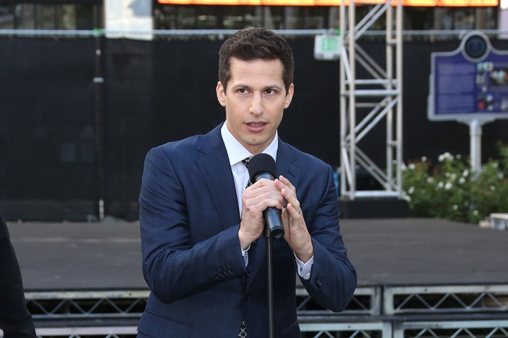 Host Andy Samberg attends the 67th Annual Primetime Emmy Awards Press Preview Day Red Carpet Rollout & Governors Ball Reveal at the Microsoft Theater on Sept. 16, 2015 in Los Angeles.