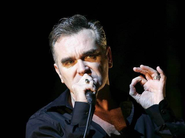 File photo of Morrissey in concert