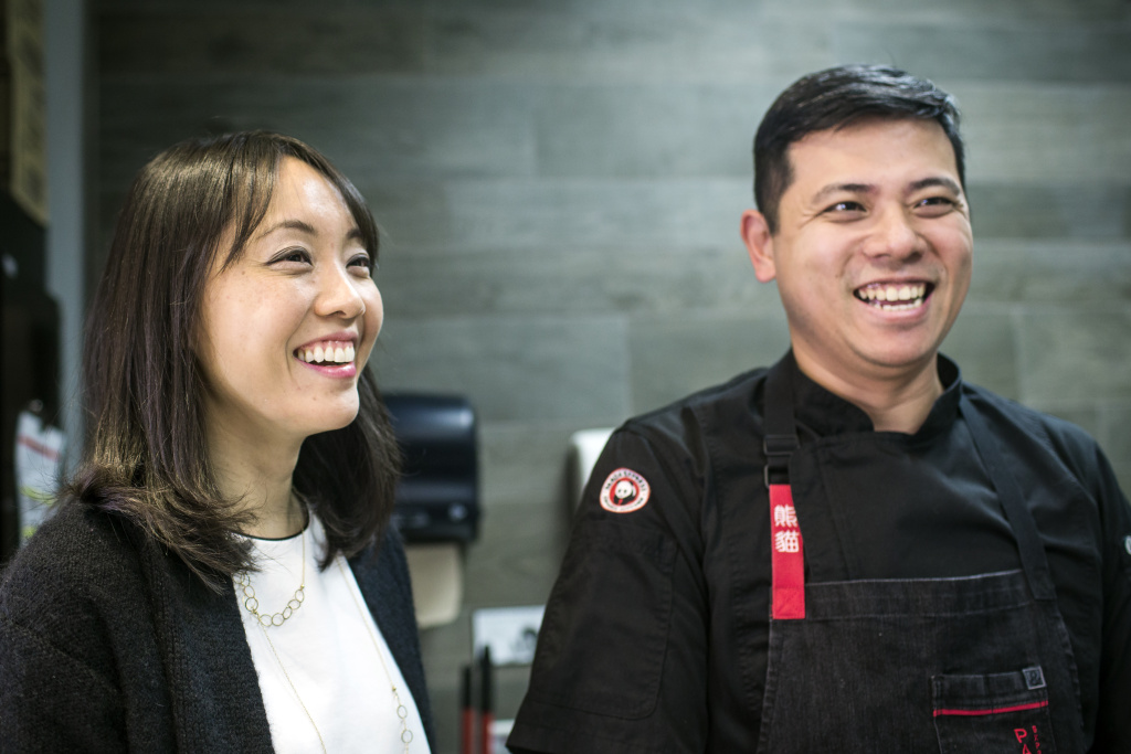Andrea Cherng, left, is chief marketing officer and Jimmy Wang is director of culinary innovation for Panda Express. The restaurant group first started in 1983.