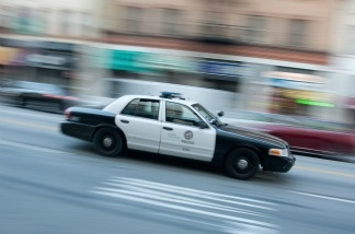 File photo: An LAPD cruiser in Downtown Los Angeles.