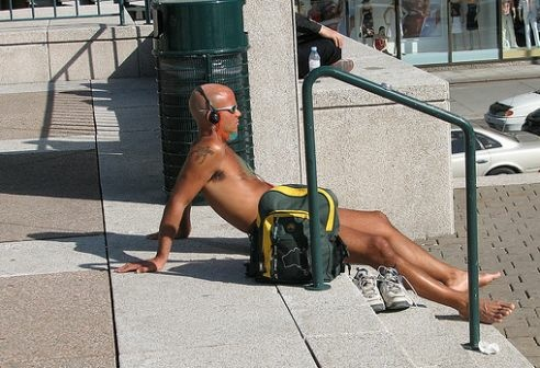 Does public nudity compromise public safety?