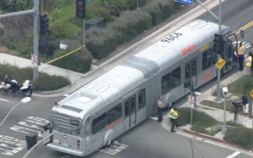 An articulated Metro bus collided with a car on Monday morning. Six people were injured, but none of them had life-threatening injuries, a fire department spokesperson said.