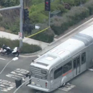 Metro bus collision