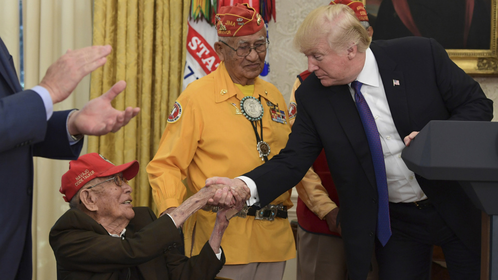 In 2017, President Trump honored Navajo Code Talker Fleming Begaye Sr. at the White House.