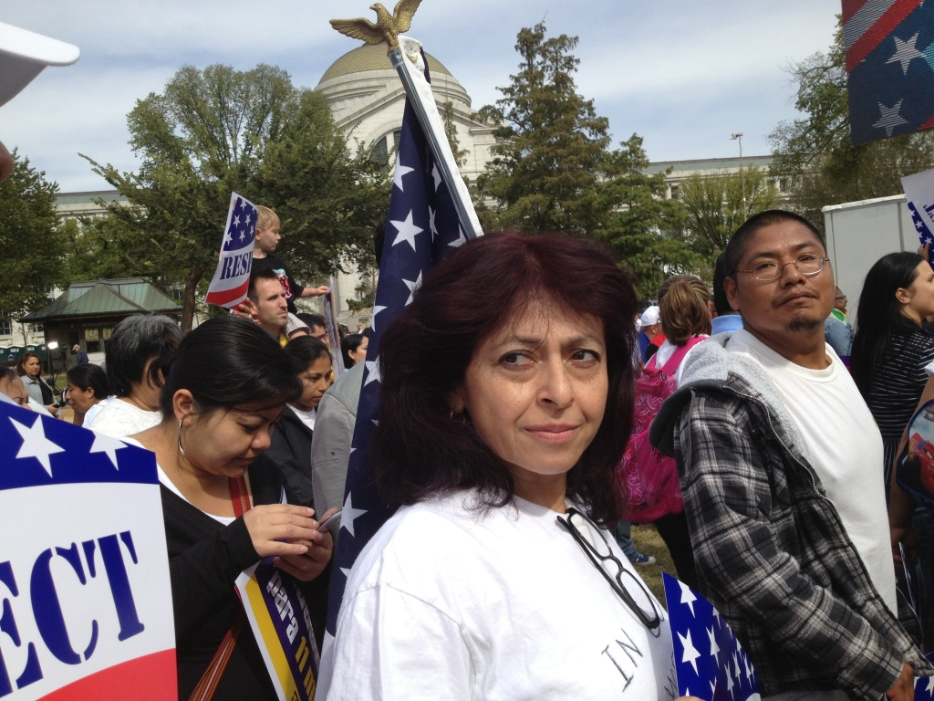 Immigration activists rallied last month on the Washington Mall.