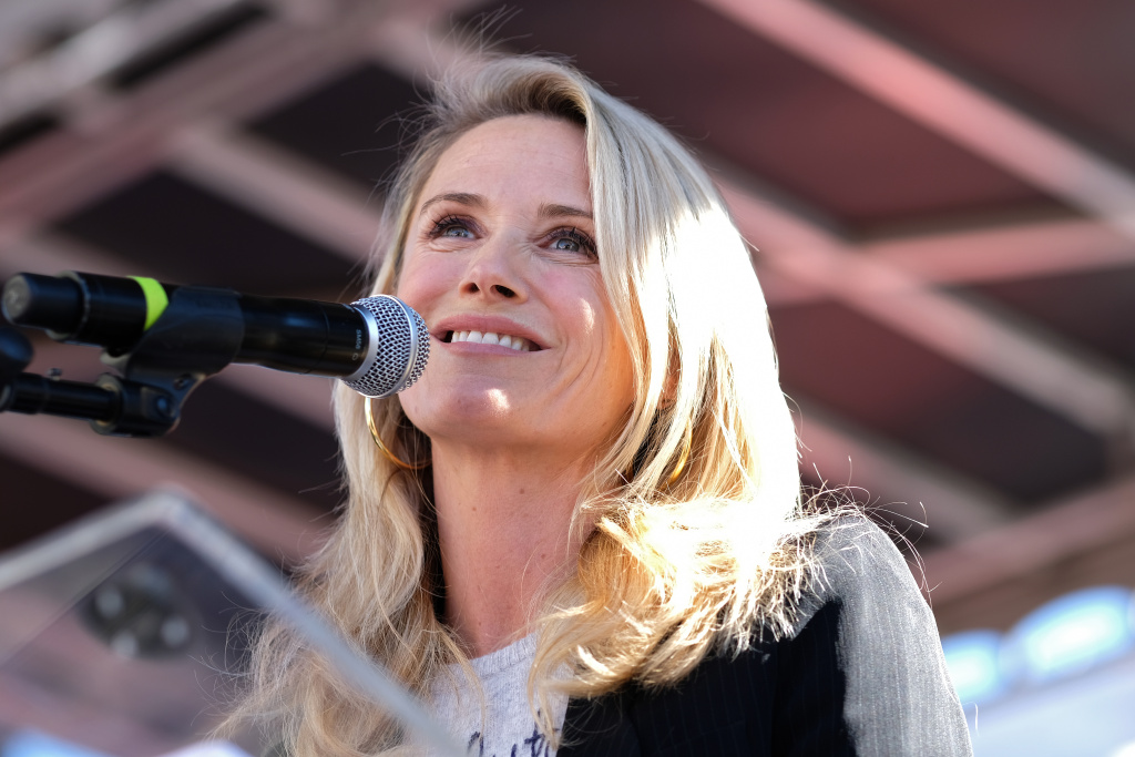First partner of California Jennifer Siebel Newsom speaks at the Women's March California 2019 on January 19, 2019 in Los Angeles, California.