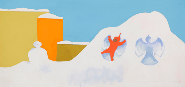 Final illustration for The Snowy Day, 1960