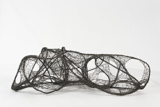 """""""Wire Sun,"""" a 1960 sculpture by Claire Falkenstein showing at Hauser Wirth & Schimmel."""