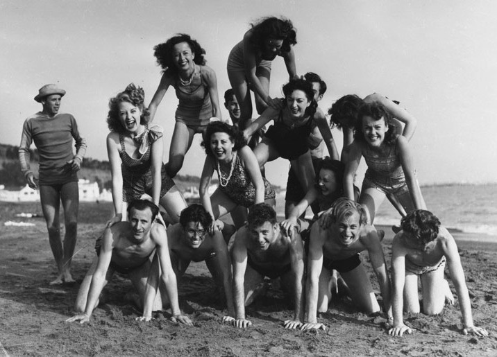 Undated photo at unidentified SoCal beach.