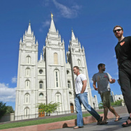"Gay Activists Gather At Mormon Temple For ""Kiss In"""
