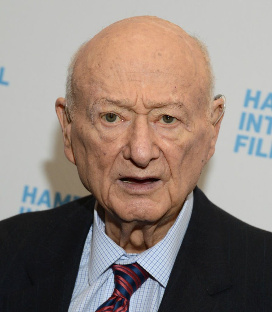 A photo of Ed Koch as he attends the