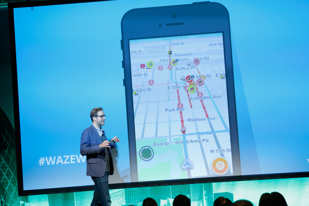 Product Specialist for Waze Mark Campos speaks on stage at LocationWorld 2016 Day 2 at The Conrad on November 3, 2016 in New York City.