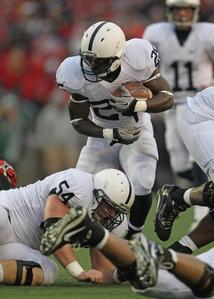 Silas Redd #25, formerly of the Penn State Nittany Lions, has left the team for the USC Trojans football program.