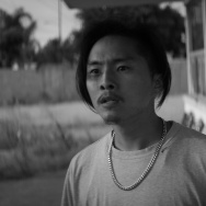 "Justin Chon and Simone Baker in ""Gook."""