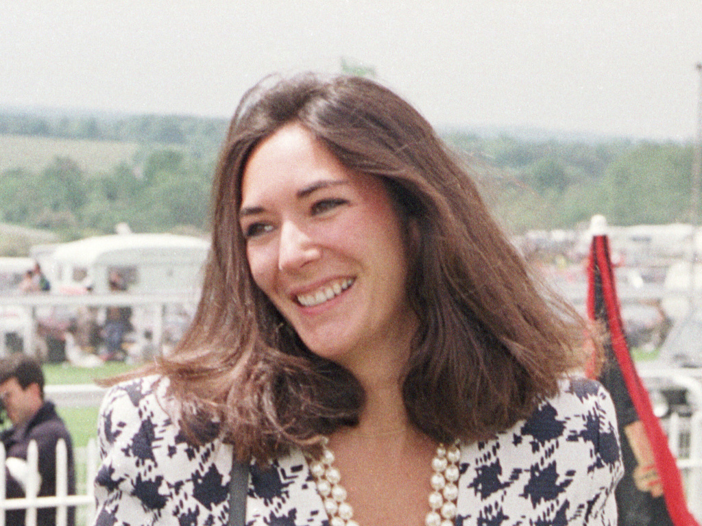 A 1991 photo of British socialite Ghislaine Maxwell, Jeffrey Epstein's former girlfriend who now faces multiple counts of sex trafficking.