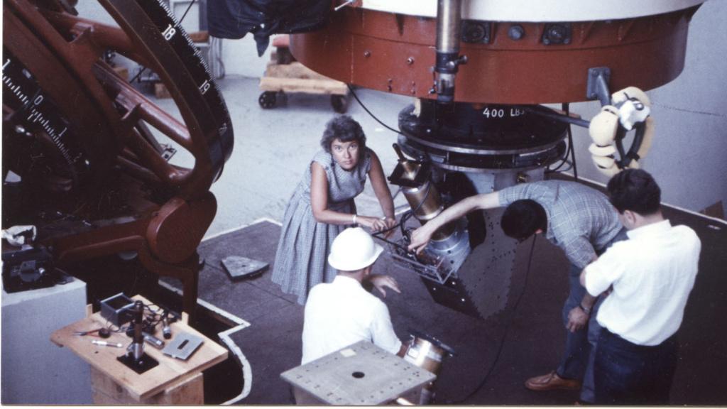Vera Rubin works at the Lowell Observatory in Flagstaff, Ariz., in 1965.