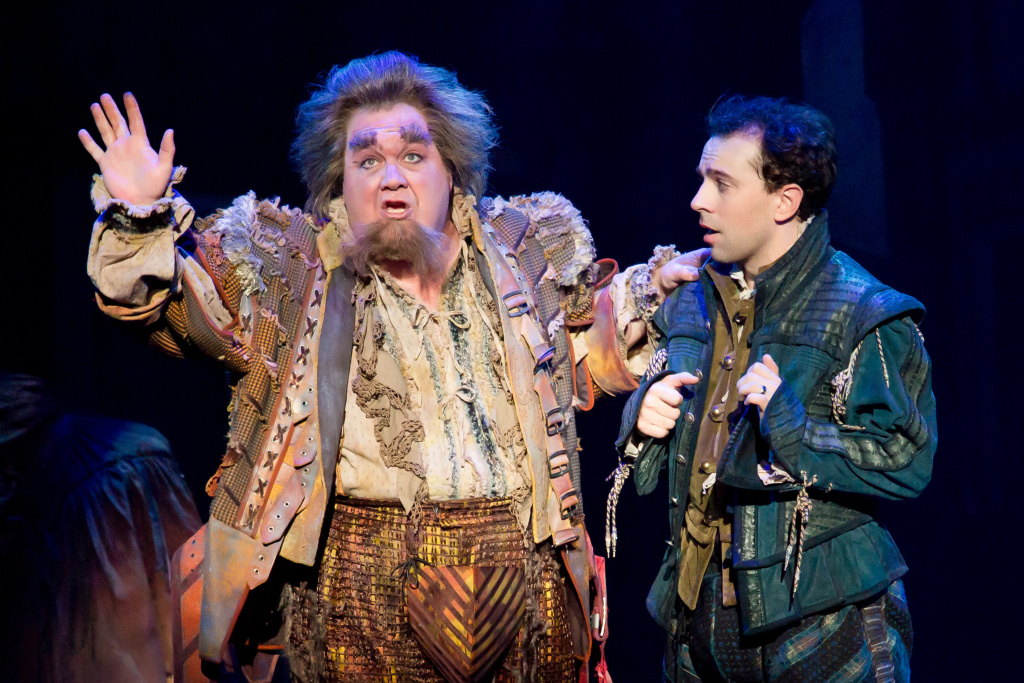 "L-R: Blake Hammond and Rob McClure in ""Something Rotten!"" at the Ahmanson Theatre through Dec. 31."