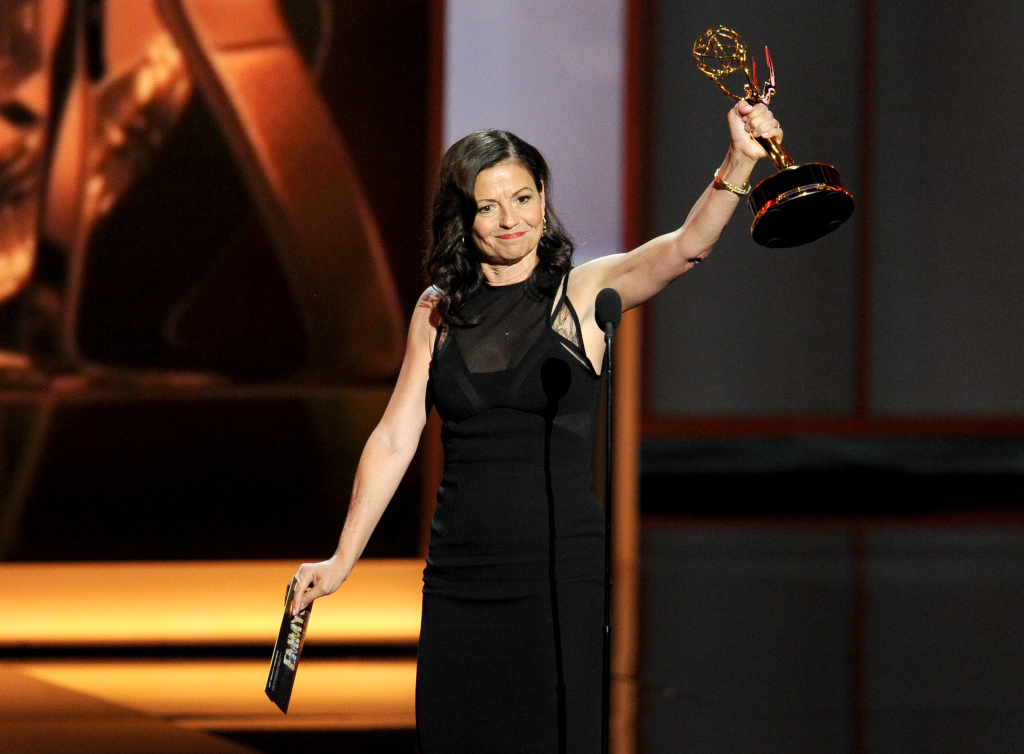Winner for Best Directing for a Comedy Series, Gail Mancuso speaks onstage during the 65th Annual Primetime Emmy Awards held at Nokia Theatre L.A. Live on September 22, 2013 in Los Angeles, California.