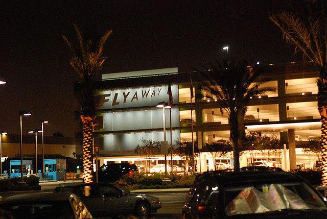 LAX's FlyAway bus terminal in Van Nuys.
