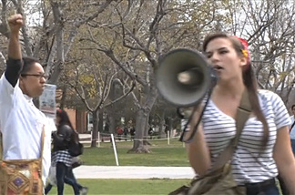 Hundreds of Cal State Northridge students protested the rising costs of education. The marches and rallies took place throughout the day Wednesday, March 2, on campus.