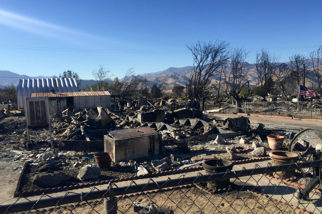 The remains of a home that burned in the Erskine Fire northeast of Bakersfield. Hundreds of homes in the Lake Isabella area now need to be rebuilt.