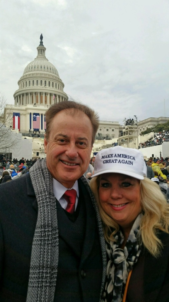 Tony Beall, Rancho Santa Margarita City Councilman and Jennifer Beall, former RNC delegate who ran the Trump Campaign for SoCal, in D.C. for the inauguration.