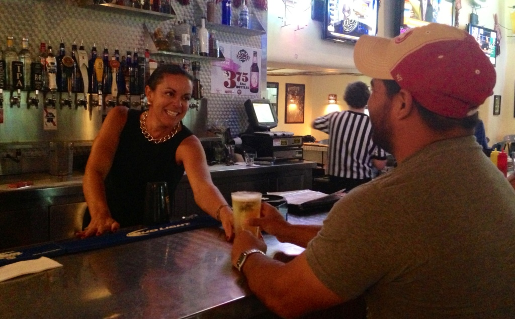 Marci Dickerson owns four liquor licenses in Las Cruces, New Mexico. She's on a waiting list to buy a fifth.