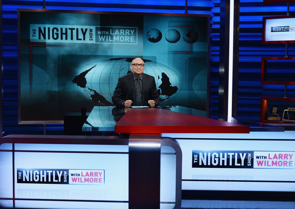 NEW YORK, NY - JANUARY 19:  Host Larry Wilmore appears on the debut episode of Comedy Central's