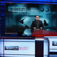 "Host Larry Wilmore appears on the debut episode of Comedy Central's ""The Nightly Show with Larry Wilmore"" at The Nightly Show Studios on January 19, 2015 in New York City. The program was canceled Monday."