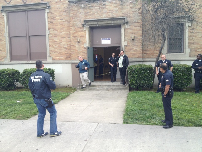Police investigate shooting outside of auditorium at 92nd Street Elementary School