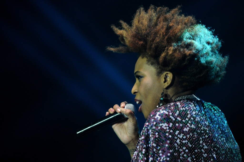 American singer, Macy Gray performs on day 3 of The 6th LA Lights Java Soulnation Festival 2013 on October 6, 2013 in Jakarta, Indonesia.