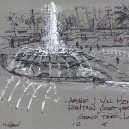 Grand park fountain by artist Mike Sheehan