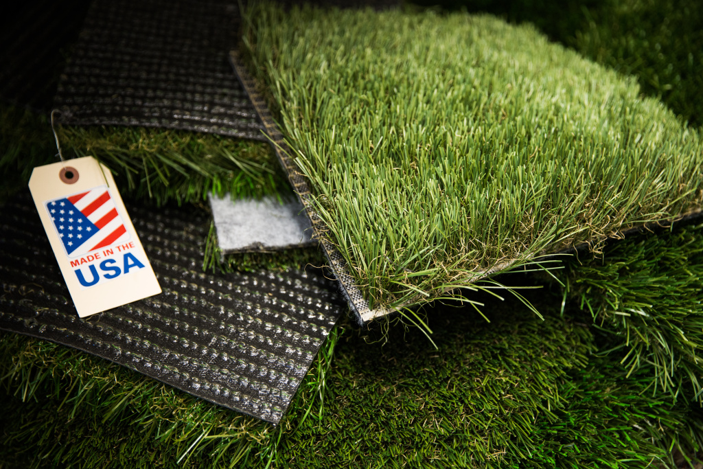 A file photo from KPCC shows an example of artificial turf (the brand pictured is not FieldTurf).
