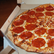 A Domino's Brooklyn-style pizza.