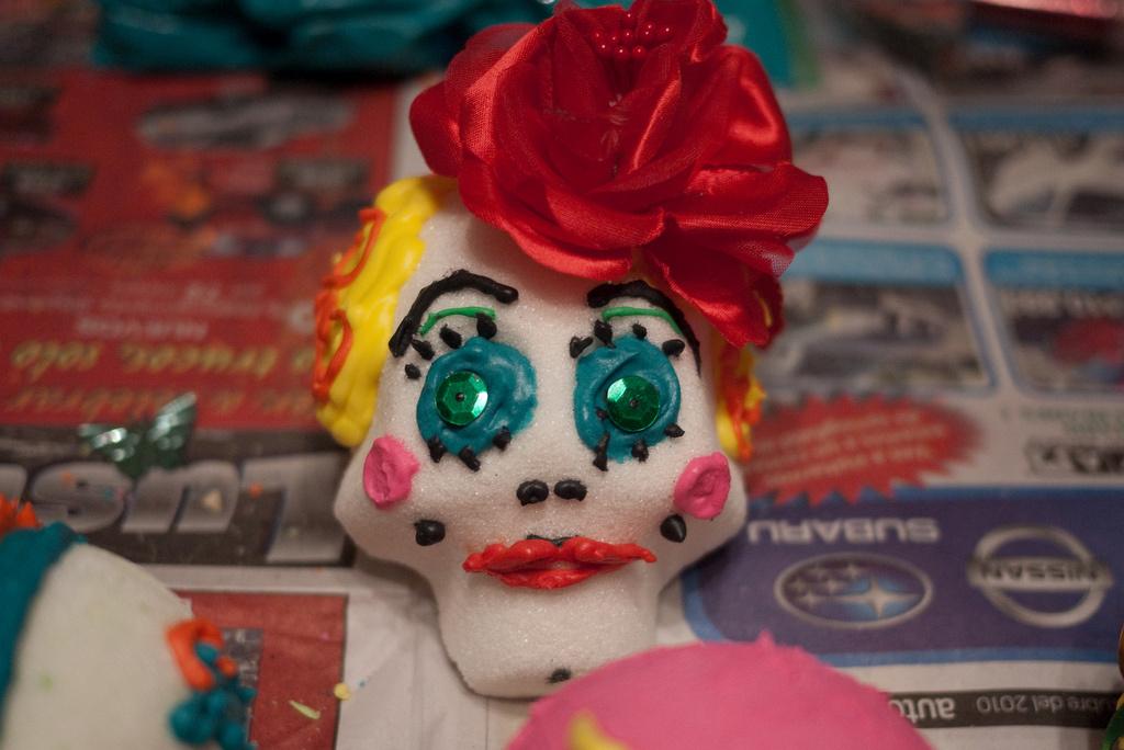 A sugar skull for Día de los Muertos.